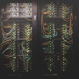 Photo of a board of networked cables