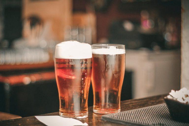 Photo of 2 full pint glasses