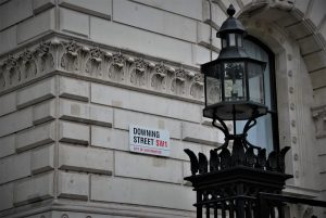 Photo of the corner of Downing Street with street sign