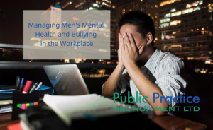 Man at work suffering with stress