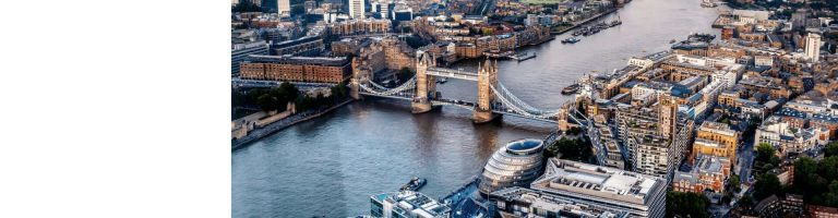 London Aerial View of Tower Bridge