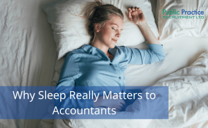 Female accountant sleeping peacefully