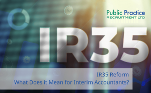 Text saying IR35 against a dynamic backdrop