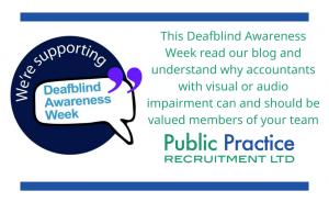 We're supporting Deafblind awareness week logo